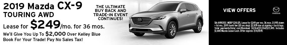 2019 Mazda CX-9 July Offer