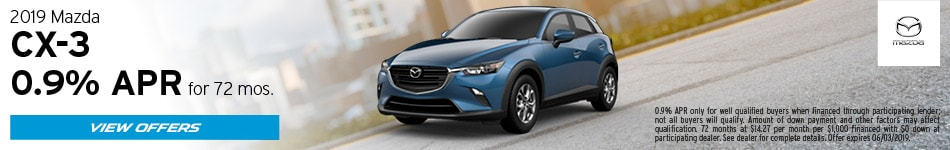 2019 Mazda CX-3 May Offers
