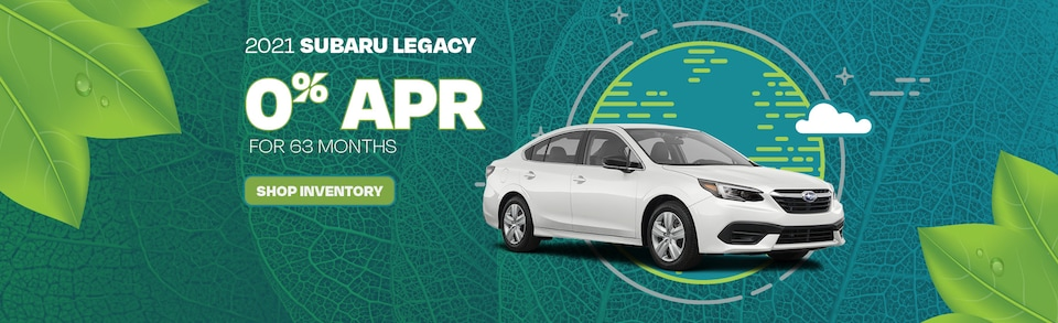 2021 Subaru Legacy 0% APR for 63 months