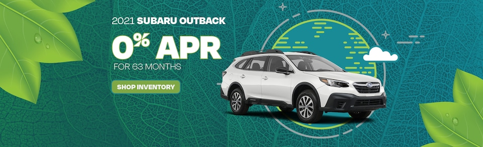 2021 Subaru Outback 0% APR for 63 months