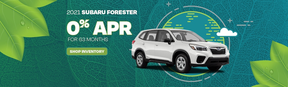 2021 Subaru Forester 0% APR for 63 months