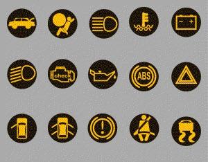 dashboard symbols: f-150 warning lights