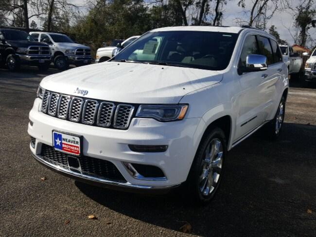 New 2019 Jeep Grand Cherokee SUMMIT 4X2 Sport Utility Jasper, TX