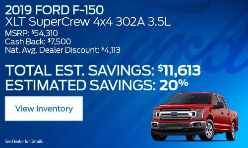 2019 Ford F-150 XLT Super Crew 4x4 302A 3.5 L