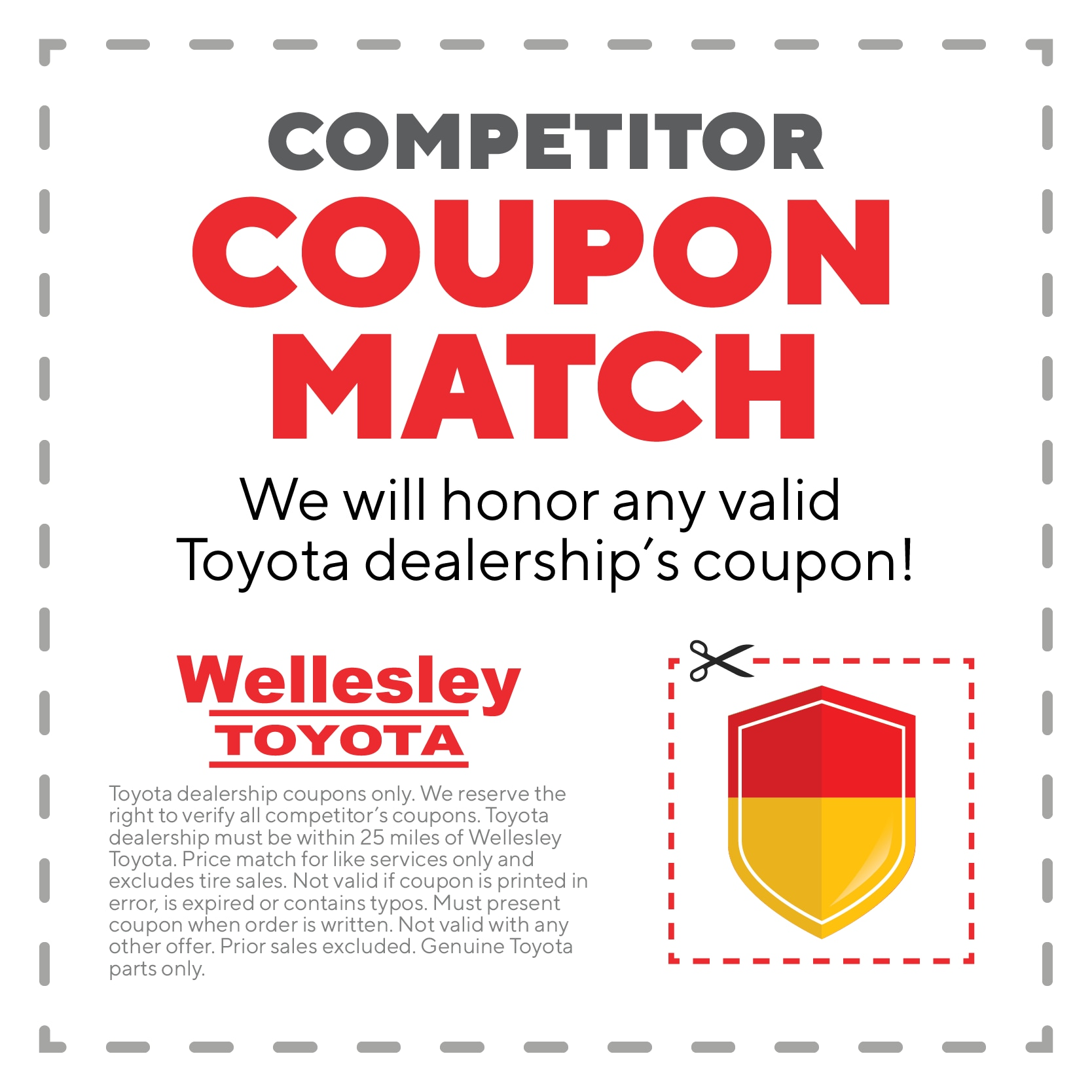photo regarding Toyota Service Coupons Printable called MA Toyota Support Discount codes Wellesley Toyota Services
