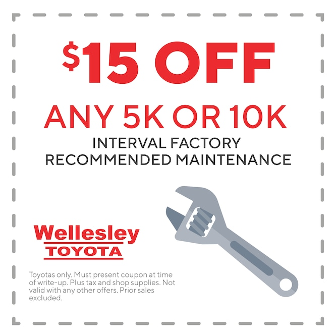 Toyota Oil Change Coupon >> Ma Toyota Service Coupons Wellesley Toyota Service