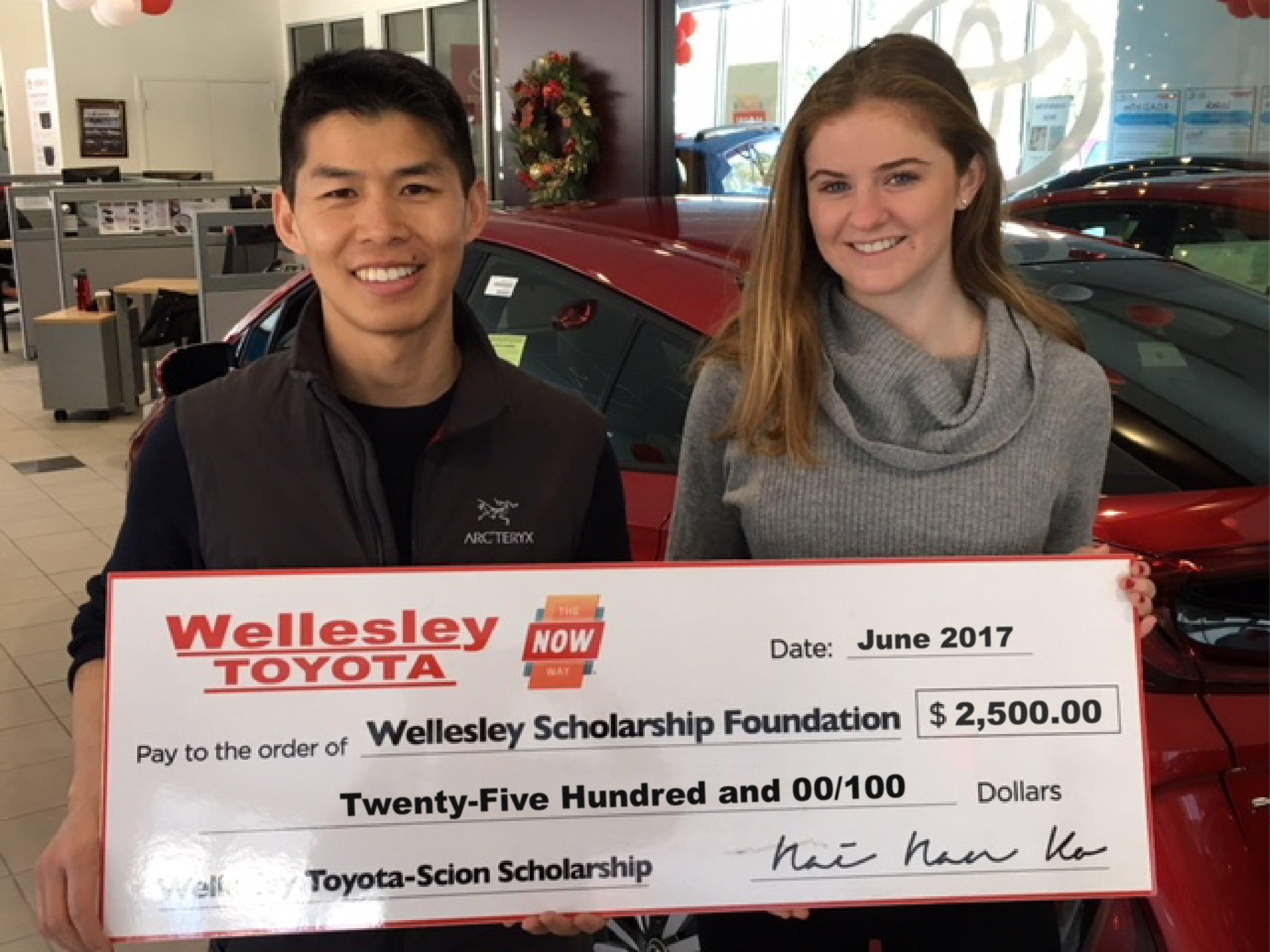 Wellesley Toyota Scholarship Wellesley Toyota