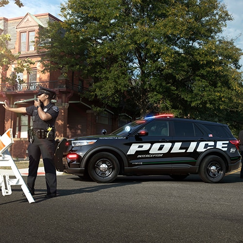 2021 ford police interceptor utility  car wallpaper