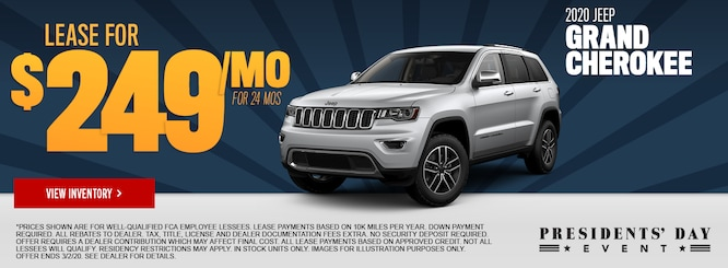 Specials On New Cars Jeep Dealership Near Lincoln Park Mi