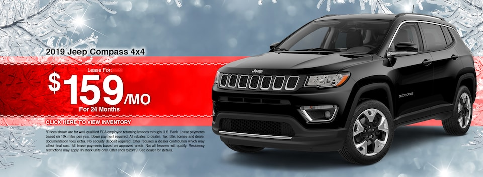 2019 Jeep Compass 4x4 Lease Special