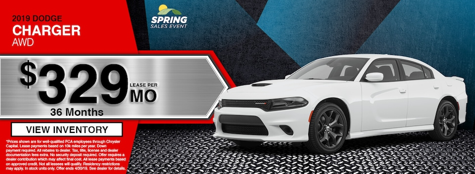 2019 Dodge Charger AWD Lease Special