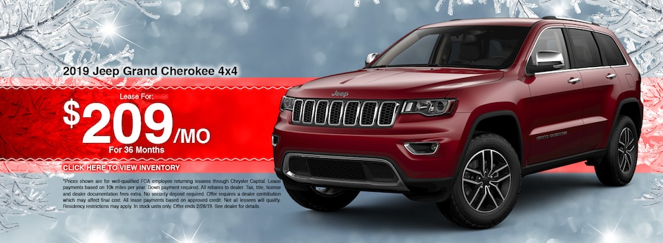 2019 Jeep Grand Cherokee 4x4 Lease Special