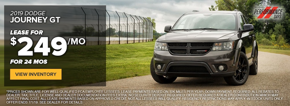 2019 Dodge Journey GT Lease Special