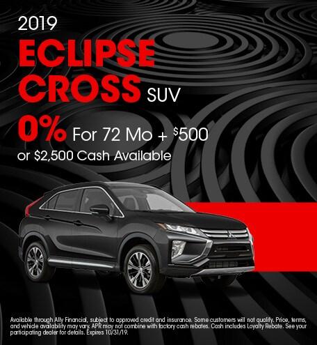 October 2019 Eclipse Cross SUV Offer