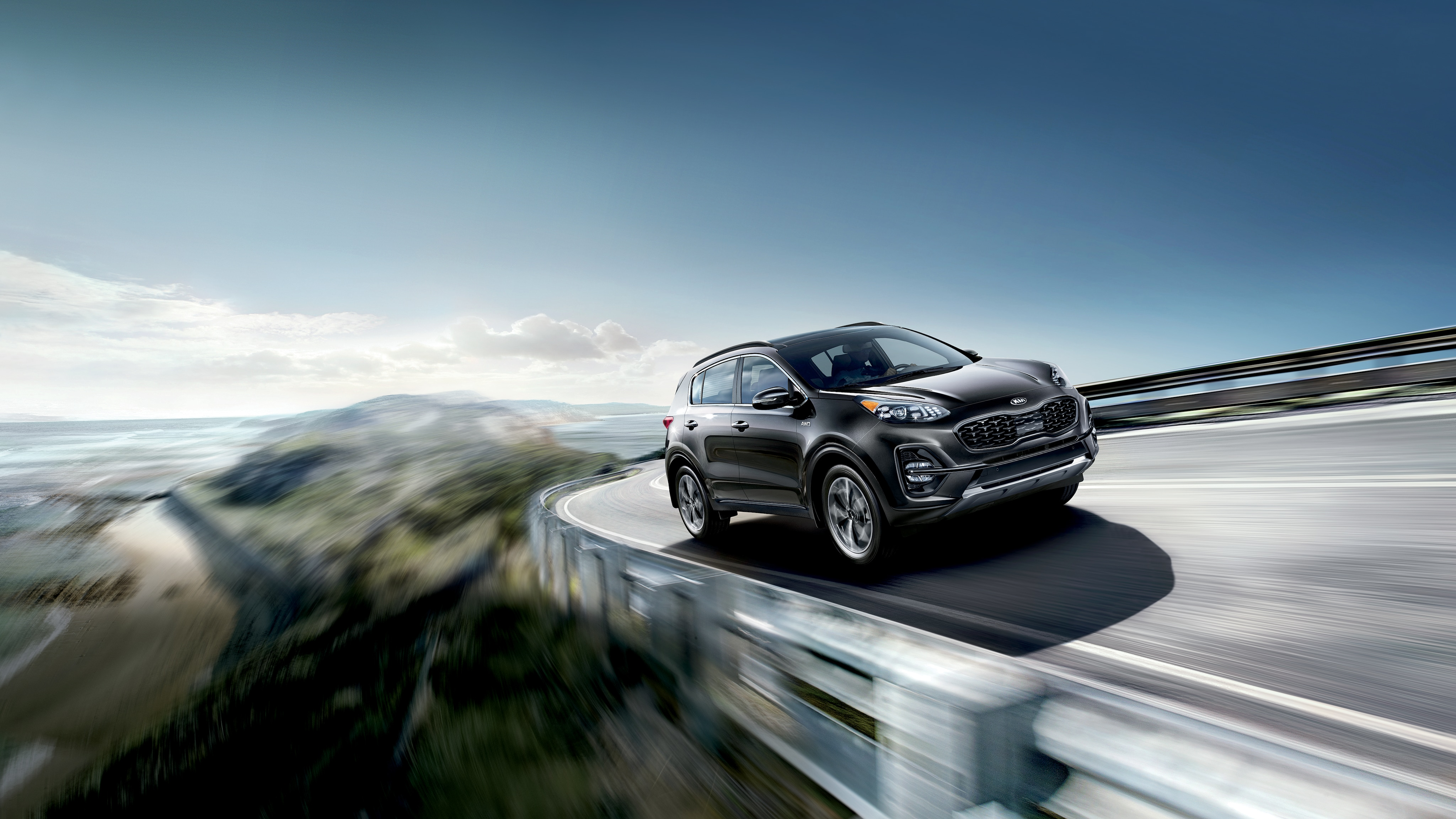 West Broad Kia is a Kia Dealership in Richmond near Laurel, VA | 2020 Sorento driving on highway