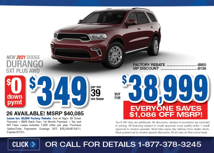 Dodge Durango Special - May 2021