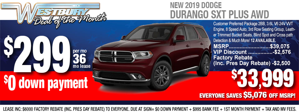 New 2019 Dodge Durango For Sale In Long Island Ny