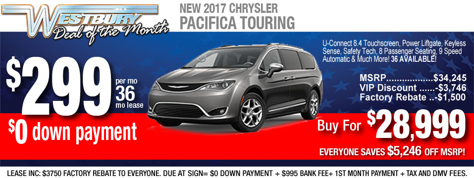 Chrysler Pacifica Lease >> Chrysler Lease Specials In Long Island Auto Financing