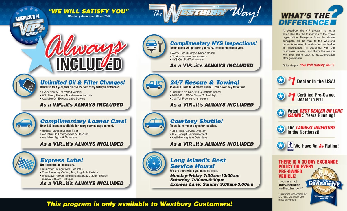 Westbury Jeep Service >> America S 1 Vip Program