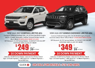 Jeep Compass Limited & Grand Cherokee Limited Deals - August 2020