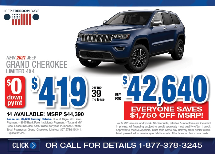 Jeep Grand Cherokee Special - May 2021