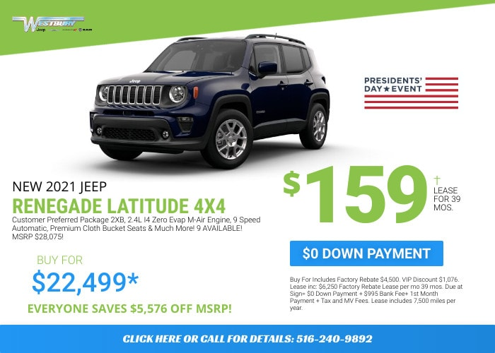 Jeep Renegade Latitude  - February Deal