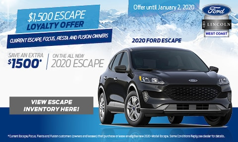 $1,500 Escape Loyalty Offer