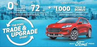 Trade and Upgrade when you purchase select new Ford SUV