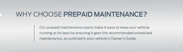 Pre Paid Maintenance Plan West Coast Ford Lincoln