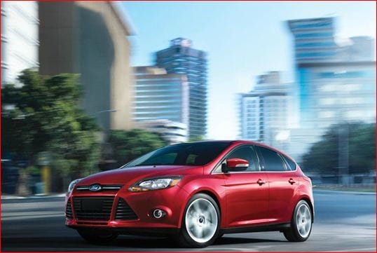 2013 ford focus exterior red