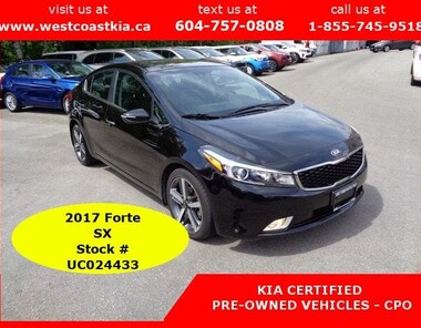 2017 Kia Forte SX Full Load | Leather | Navigation Big Screen | A Sedan