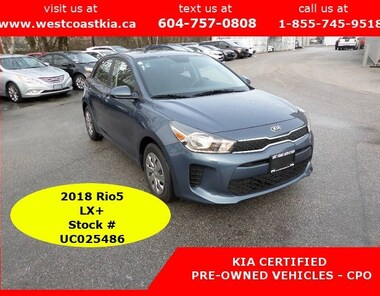2018 Kia Rio5 LX+ Only 85 KM | Heated Seats and Steering Wheel  Hatchback