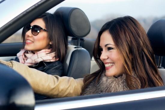 Happy customer driving away
