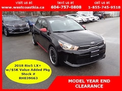 2018 Kia Rio LX+**NEW CAR**$5K Value Added Pkg**Htd Frt Seats