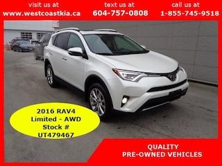 2016 Toyota RAV4 Limited**Htd Lthr Seats**Sunroof SUV
