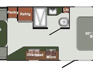 2019 GULF STREAM Envision 22UDL - COUPLES TRAILER - SLEEPS 4