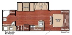 2020 GULF STREAM CONQUEST 257RB ULTRA LITE - SLIDE OUT - COUPLES TRAILER SLEEPS 6