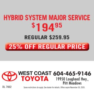 Hybrid System Major Service