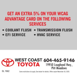 Get an Extra 5% on Your WCAG Advantage Card