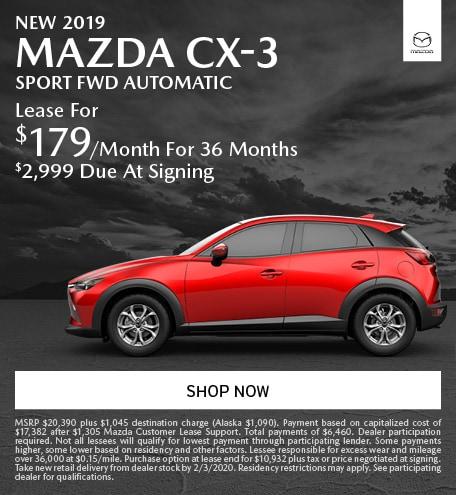 January   2019 Mazda CX-3