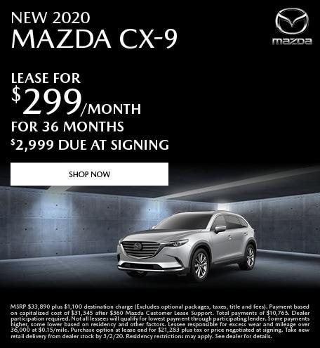 February | 2020 Mazda CX-9