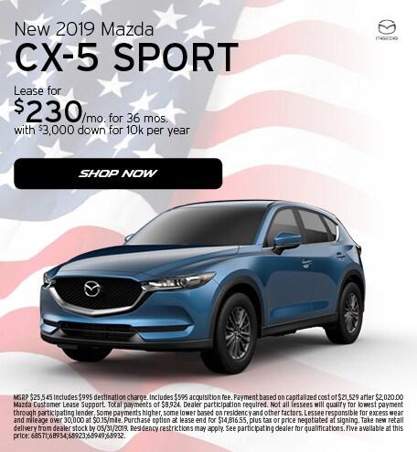May 2019   2019 Mazda CX-5 Sport