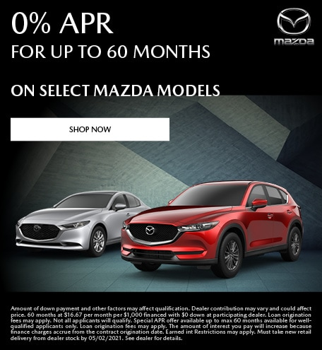 0% APR for up to 60 Months- April Special