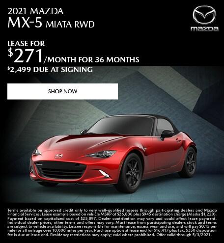 2021 MAZDA MX-5 MIATA RWD- April Special