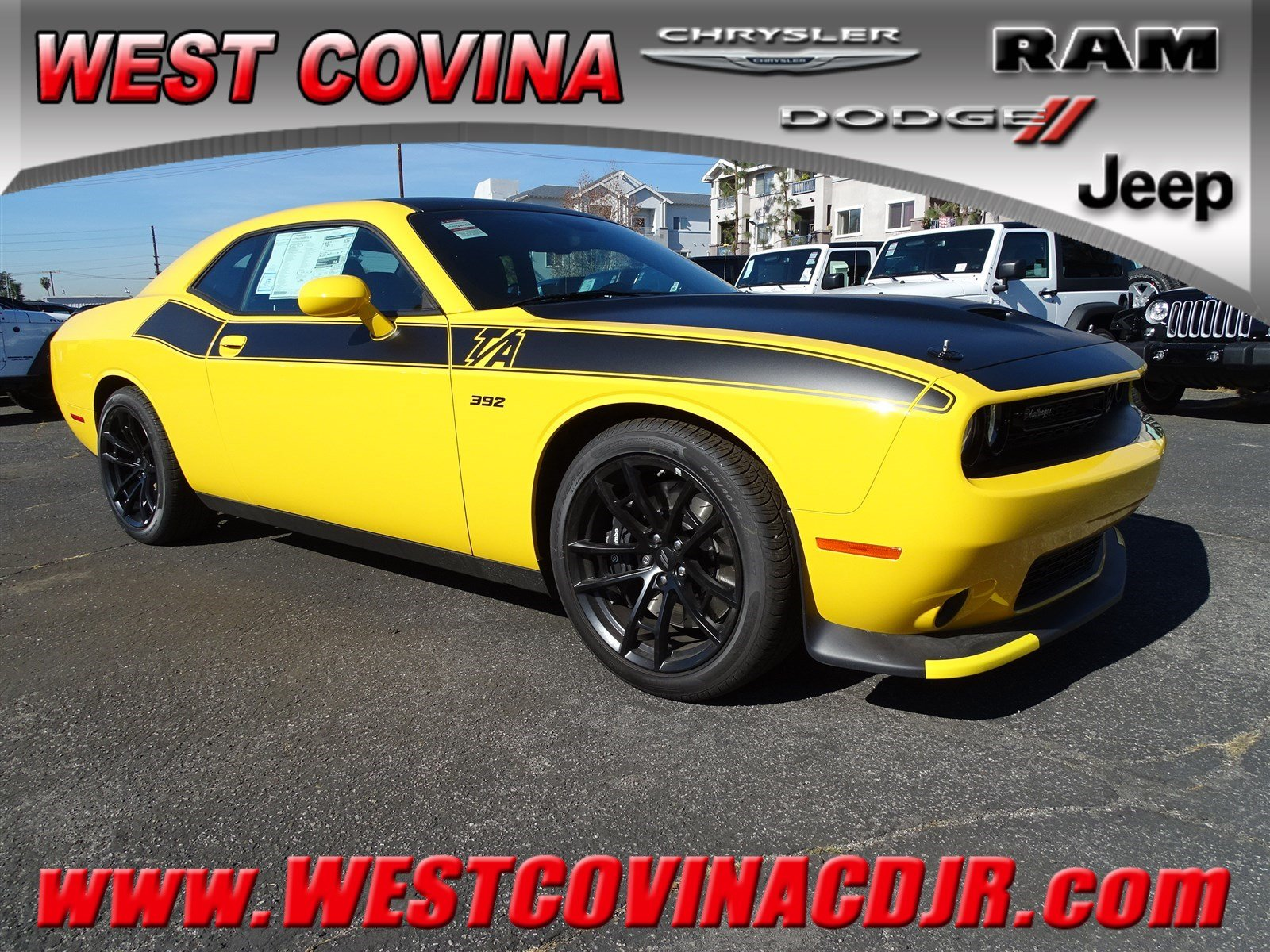 2018 Dodge Challenger T/A 392 T/A 392 RWD for sale in West Covina, CA