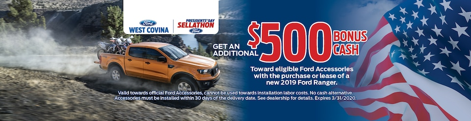 Additional $500 off Accessories of 2019 Ford Ranger
