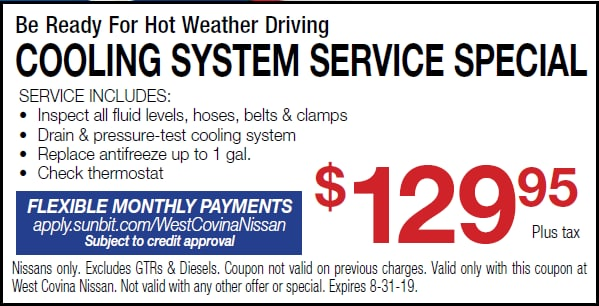 West Covina, CA Nissan Service Specials   West Covina Nissan