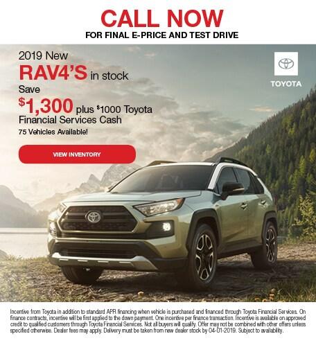 2019 RAV4 Payment Specials