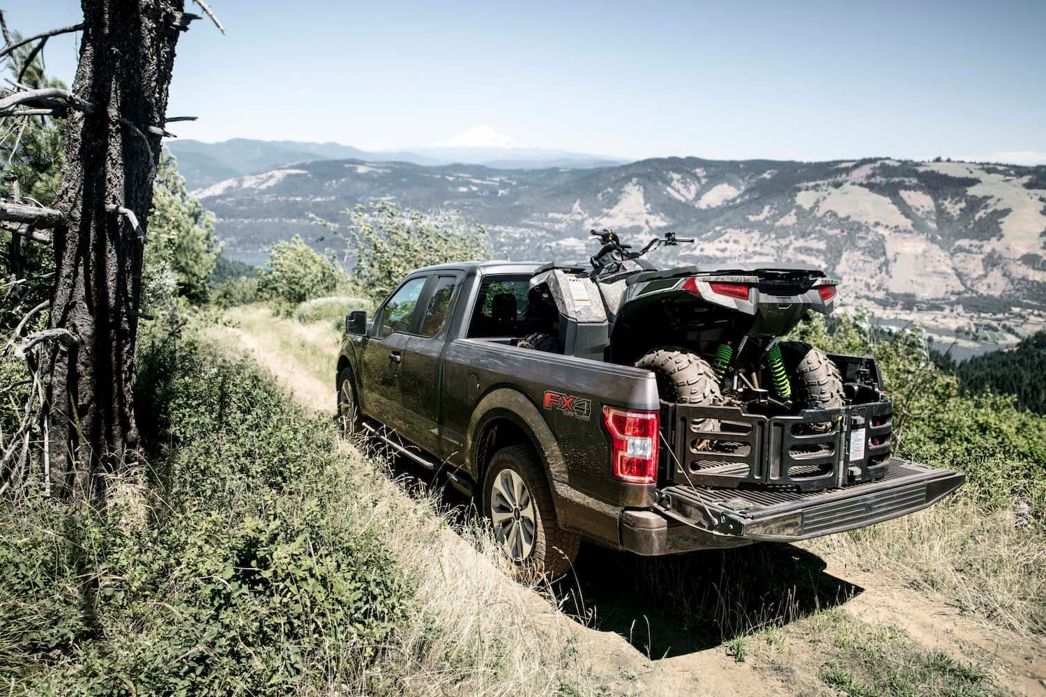 Ford F-150 Towing an ATV