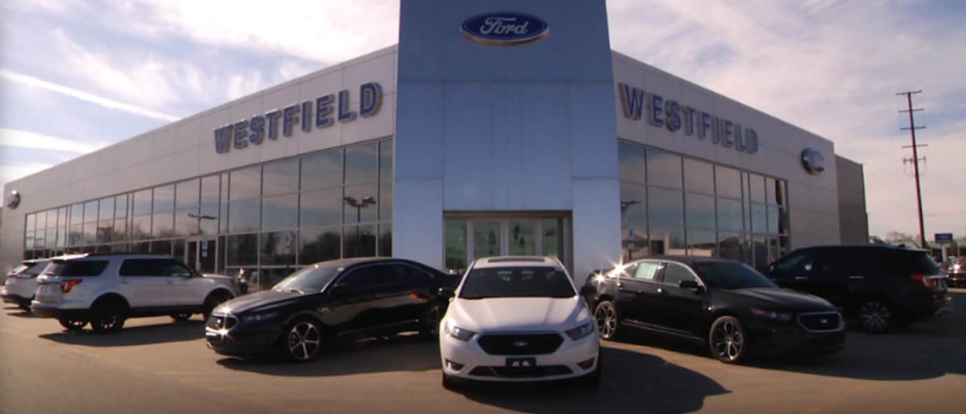 Front of Westfield Ford Dealership